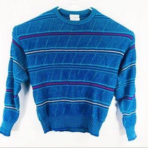 Christian dior wool Mens knit blue sweater